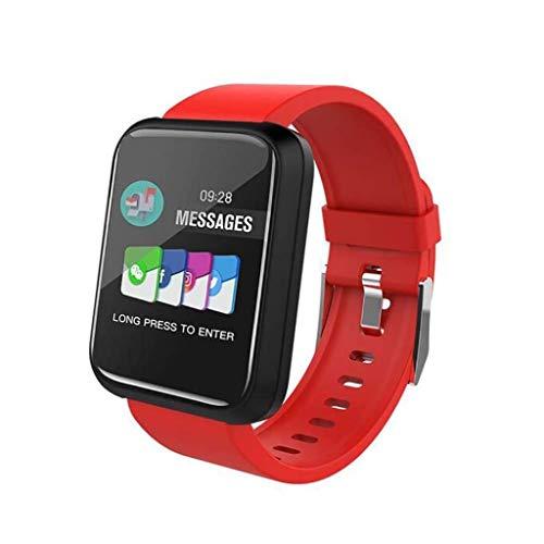 Lg-jz Smart Watch Sports IP67 Waterproof 1.3 Pantalla en Color Multi-frecuencia cardíaca Presión Arterial Oxígeno Sangre Control de música Reloj Podómetro Correr Pulsera Inteligente (Tamaño : Rojo)