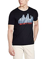 Arrow New York Mens T-Shirt (8907538068835_AKTY3127_Medium_Black)