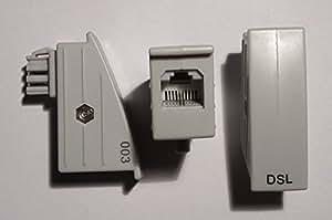 AVM TAE RJ45 DSL Adapter für Fritz!Box o. Speedport - 4/5 belegt, nicht 1/8