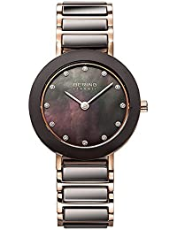 Bering Time 11429-765 Women's Quartz Analogue Watch-Bracelet Brown different materials