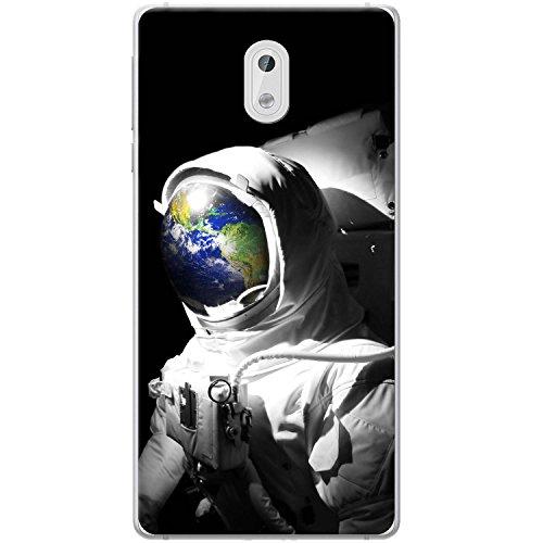 Astronautenanzug & Spiegelbild der Erde Hartschalenhülle Telefonhülle zum Aufstecken für Nokia 3