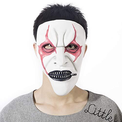 Maske - Halloween Maske Horror Kopfbedeckung Unheimlich Männlich Erwachsen Weiblich Ghost Face Masquerade Latex (Color : J)