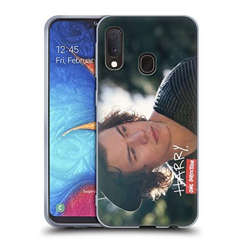 Head Case Designs Offizielle One Direction Harry Und Streifen Signierte Solo Fotos Soft Gel Huelle kompatibel mit Samsung Galaxy A20e (2019) -