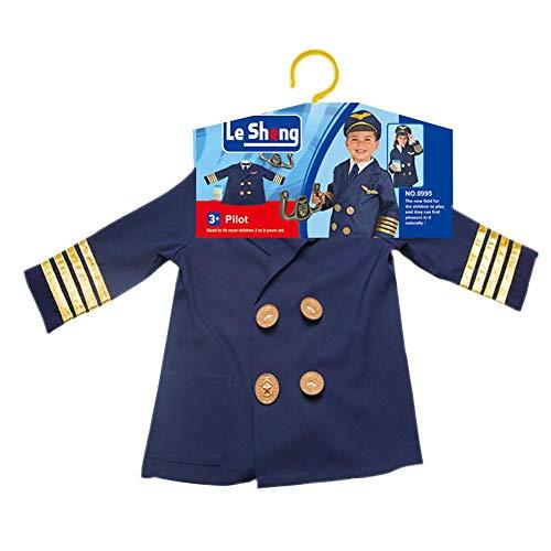 Jungen Pilotenkostüm Kurzarm-Outfits mit Hut, grenzüberschreitende Pilotenkostümartikel Spielzeug , Rollenspielhaus für ()