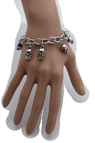 Rodeo-manschette (télévision Française Juive Frauen Fashion Jewelry Hand Kette Handgelenk Manschette Armband Slave Ring Schwarz Bead Metall gold)