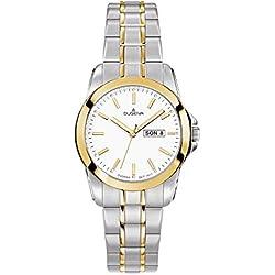 Dugena Damen-Armbanduhr Analog Quarz Edelstahl beschichtet 4460565