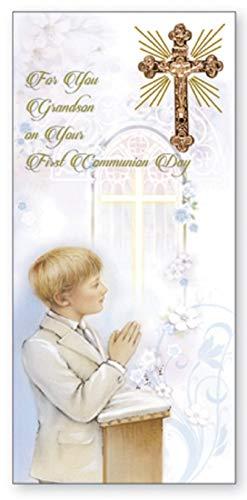 The Healing Corner Erstkommunion Karte Enkel Golden Cross Best Wishes On Your First Communion Grandson