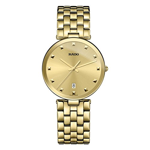 RADO WOMEN'S FLORENCE 38MM GOLD PLATED BRACELET & CASE QUARTZ WATCH R48868253