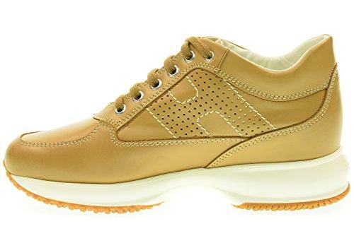 HOGAN donna sneakers bassa INTERACTIVE HXW00N00E30D0W9997 Cuoio