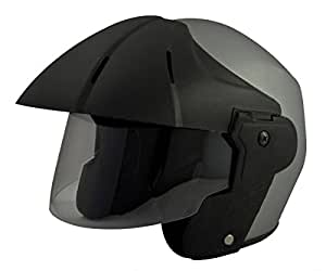 Benz Power Plus (ISI Certified) Open Face Helmet (Small, Silver Matte)