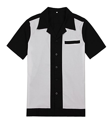 Candow Look Panel Casino Lounge Shirt retro Rock Steady Clothing