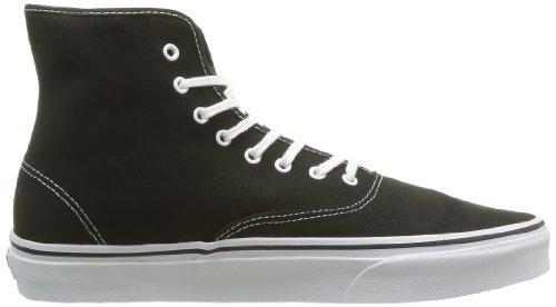 Vans U Authentic Hi, Baskets mode mixte adulte Noir (Black/True Whit)
