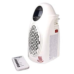 Broszio Handy Heater - mini Heizlüfter - Steckdosen Heizung für 22qm - Schwenkbare elektrische Heizung mit Fernbedienung - HandyHeater
