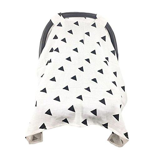 ODN Baumwolle Cover Sonnenschutz Handtuch für Baby Kinderwagen,Universell Passend (Muster 1)