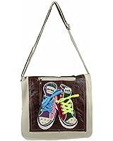 OBC Schultertasche mit Chucks Sneakers Schuhe-Motiv Turnschuh Tasche Canvas Stofftasche