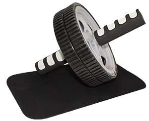 Appareil pour abdominaux - Roue abdominale - AB Wheel / AB Trainer / AB Roller + Tapis de sol pour les genoux