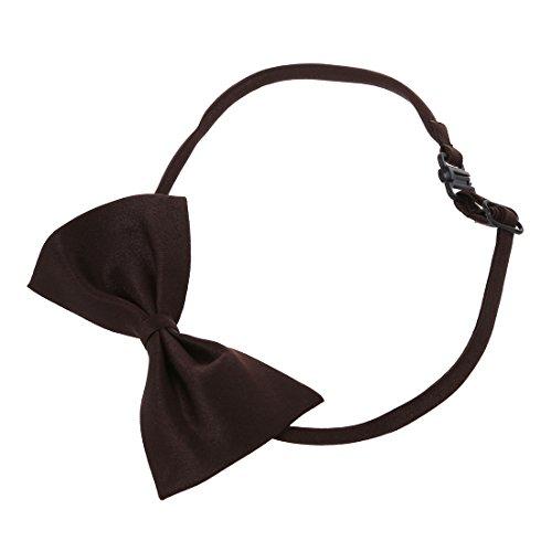 TOOGOO (R) Hunde Katzen Haustier Fliege krawatte Halsschmuck Halsband Hundefliege Hundekrawatte dog Pet tie Necktie Kaffee - 3