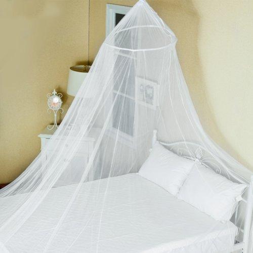 Mosquito Net, CONMING Grande zanzariera Letto a baldacchino casa insetti Protezione copertura Nessuna irritazione della pelle con Complete Hanging Kit Ideale per Viaggiare esterno domestico vacanze