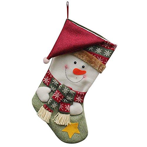 htsstrumpf mit Hut Schal (Schneemann) (Pre Gefüllt Christmas Stockings)