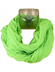 Foulard Snood Tube Cheche - Fluo Uni Vert - Tendance Collection Printemps Eté 2013 - 85 cm x 80 cm