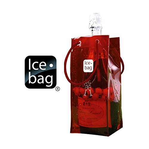 Ice Bag Is Portable and Folds for easy Storage - Red, Set of 3 by HomeAndWine.com
