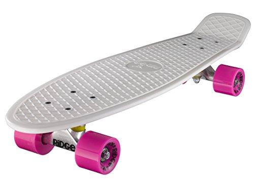 Ridge Skateboard Big Brother Nickel 69 cm Mini Cruiser, weiß/rosa