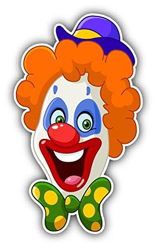 toon Hochwertigen Auto-Autoaufkleber 8 x 12 cm (Clown Dekor)