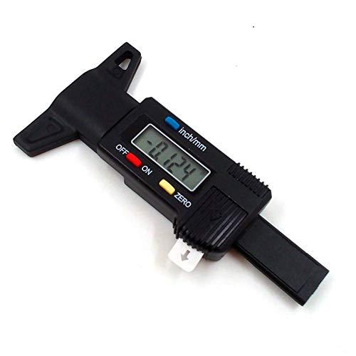 Pneumatico per pneumatico digitale LCD Profondità del battistrada Pattino del freno Misura del battistrada Profondità del battistrada 0-25,4 mm, ganascia del freno, usura delle pastiglie