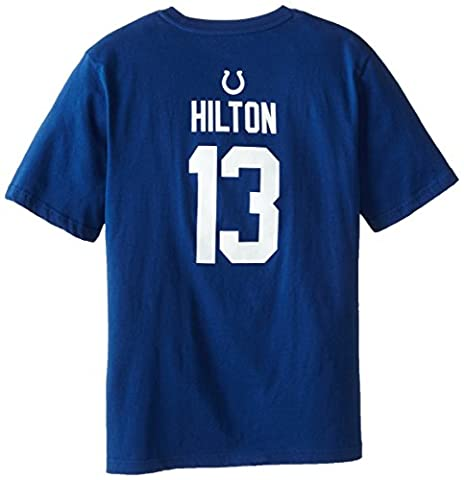 NFL Indianapolis Colts Jugend Short Sleeve Name und Nummer Tee (Alter 4–18), Speed Blue