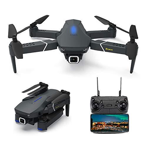 EACHINE E520, Drones con Camara 4k con Larga Duracion de Batería, Drone FPV HD 5.8 GHz, WiFi App, 250m FPV Distancia, Selfie Drone con 4K, Drone Profesionales, Gran Angular Drone.