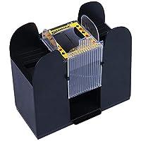 Dough.Q Poker Card Máquina de Mezcla automática de Tarjetas, 4 Barras, máquina de Mezcla eléctrica como Mezclador de Tarjetas, Funciona con Pilas para Mezclar Tarjetas en póquer (Negro)