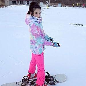 LIJUMN Damen Skianzug Schneeanzug Winddicht Wasserdicht Outdoor Sport Warme Skianzugjacke