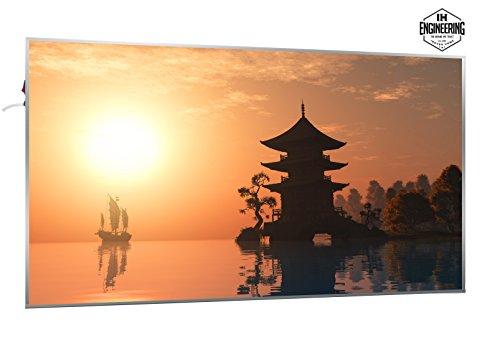1200W Infrarotheizung mit Bild (Asien Sonnenuntergang) - Smart & Nice Serie mit Ein-/Ausschalter - Fern Infrarotheizung mit 7 Jahren Garantie
