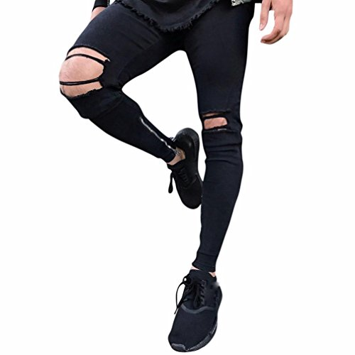 Cargohose Herren Jeans Hose Skinny Pants Jeans Denim Hose Joggerhose Trainingshose Jogger Fitness Sport Outdoor wanderhose Fitnesshose Sweatpants Jogginghose Männer Loose Hose Baumwollmischung LMMVP (30, Schwarz) (Hosen Baumwollmischung)