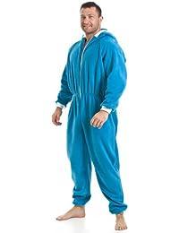 Combinaison pyjama à capuche en polaire - détail poches - homme