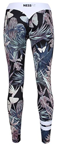 Nessfit - Leggings sportivi -  donna Tropical - Leggings