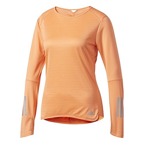 adidas Damen Response Langarm Shirt, Easy Orange, S (Langarm Adidas Orange T-shirt)