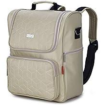 0a023bb46b XCXDX, Zaino per Pannolini con Ampio Design Aperto, fasciatoio,  portabottiglie, Cinghie per