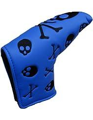 Calavera & Cruz Huesos diseño hoja de golf putter cubierta, ideal para ping Anser, Scotty Cameron Newport estilo Putter, azul