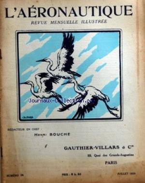 AERONAUTIQUE ILLUSTREE (L') [No 14] du 01/07/1920 - AERONAUTIQUE / REVUE ILLUSTREE AU PARLEMENT / DISCOURS DE GUY DE MONTJOU - LERET D'AUBIGNY ET FLANDIN - LES GARES DE DIRIGEABLES PAR SABATIER - LES NAVIRES PORTE-AVIONS ANGLAIS ET AMERICAINS PAR MALGORN - L'AVIATION AUX ETATS-UNIS PAR COUTURIER - L'ATMOSPHERE STANDARD PAR GRIMAULT par Collectif