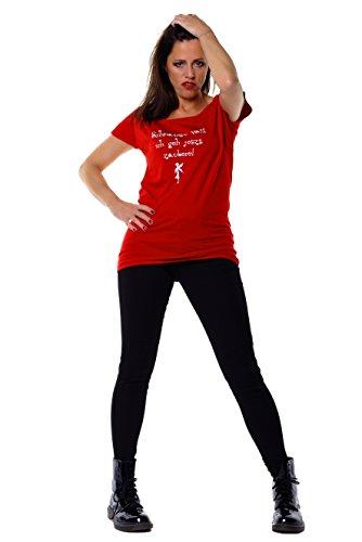 Statement Longshirt Schnauze voll ich geh jetzt zaubern der Marke 3Elfen Rot