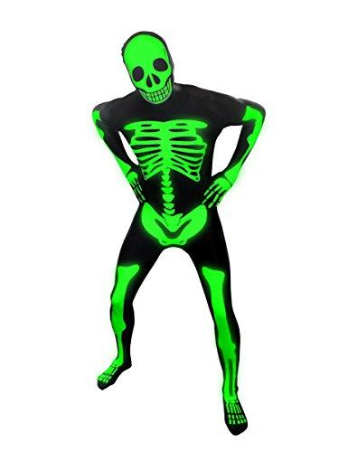 Costume da scheletro fluo di Morphsuits adulto L (180 cm max)