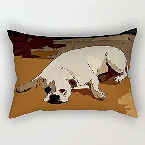 Alphadecor The Dogs Throw Pillow case/Kissenbezüge Of ,12 X 20 Inches / 30 By 50 Cm Decoration,gift For Family,teens Boys,home Theater,bedding,bar Seat (two Sides)