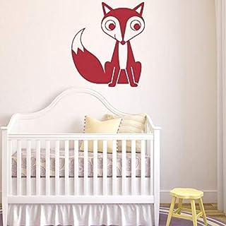 les 56x64cm décor mignon fox mur mur des décalques bébé et enfants chambre mural vinyle autocollant révocable art déco