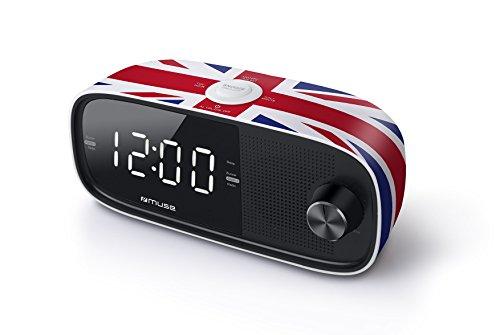 Muse M de 168UK Radio réveil/Horloge Radio avec écran Jumbo Double Alarme Noir