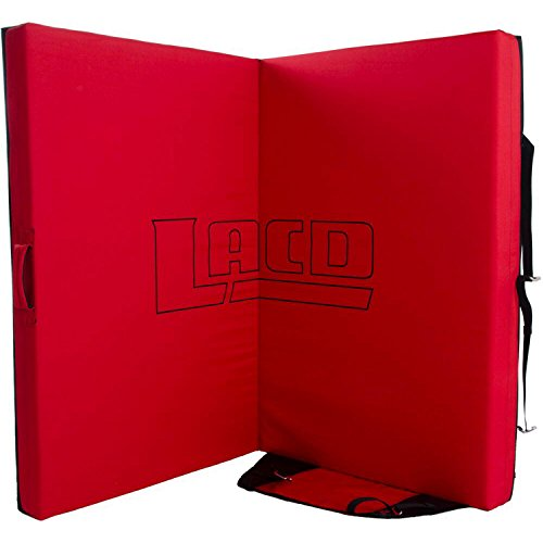 LACD Crash Pad Spot Master 2.0–Black/Red–One Size–Robusto dämpfendes Boulder crashpad con Sistema de Transporte. Rojo Talla:Talla única