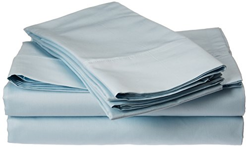 Francois et Mimi Fadenzahl 500 100% ägyptische Baumwolle Luxury Deep Pocket Sheet Set, himmelblau, California King