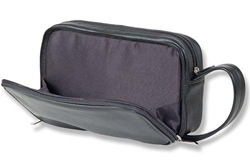 Rimbaldi®- Große Business-Handgelenktasche in Super-Ausführung aus weichem, hochwertigem Rind-Nappaleder in Schwarz
