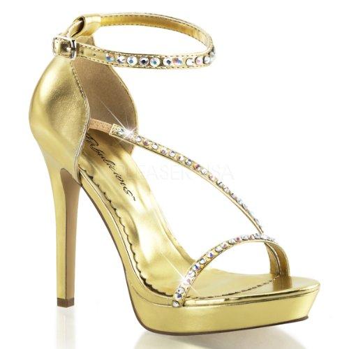 Imitación Diamantes Oro dorado De Zapatillas Con Mujeres Las De Para wIq1YBA