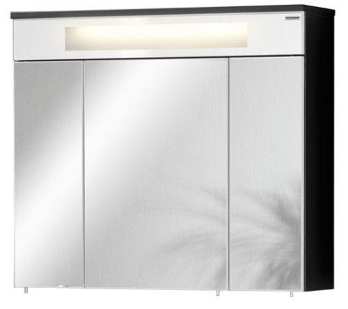 Fackelmann 80943 Spiegel-Schrank KARA 3türig anthrazit/weiß 70x80x22